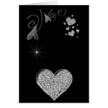 "ROMANCE IN BLACK AND WHITE SAYS ""I LOVE YOU"" CARD"