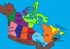 map of canada Ontario, Alaska, Columbia, Labrador, Social Studies, Canada, Map, School, Design