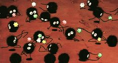 gif cute film hayao miyazaki spirited away movie stars studio ghibli soot sprites Hayao Miyazaki, Studio Ghibli Films, Studio Ghibli Art, Pretty Cure, Chihiro Y Haku, Castle In The Sky, Kawaii, Howls Moving Castle, My Neighbor Totoro