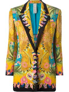 Versace Pre-Owned Printed Jacket - Farfetch Vintage Mode, Vintage Ladies, Retro Vintage, Vintage Prints, Vintage Designs, Versace Jacket, Gianni Versace, Versace Versace, Silk Jacket