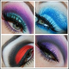 So in love with these beautiful cut crease looks Reenerneener created using #Sugarpill and #Inglot eyeshadows. Wow!