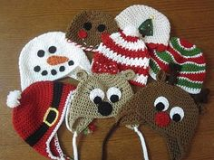 Adorable crocheted holiday hats for kids!