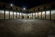 Illuminazione del Chiostro della SS. Trinità in Viterbo (Italy) by Claudia Giacomobello and Giovanni Liotta | Light as a support to architecture in this project awarded by a Special Mention at Codega 2015 Ceremony | http://ledlab.it ‪#‎codega2015‬ #ledlab #ill215 #lighting #design #international #contest