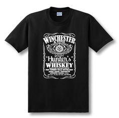 2017 Latest Fashion Hot TV Series Supernatural T-Shirt Winchester Brother Castiel T Shirt Tees Men Summer Loose Casual Short