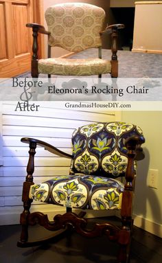 Rocking chair uphols