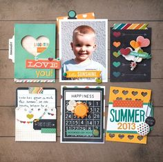 How to use all those 3x4 journal cards, outside of PL...a layout like this! By Ashley Stephens for Simple Stories