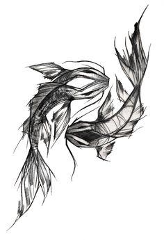 Oriental carp tattoo Black and white design Oriental design - Oriental. - Oriental carp tattoo Black and white design Oriental design – Oriental carp tattoo Blac - Tattoos Motive, Yin Yang Tattoos, Bild Tattoos, Body Art Tattoos, Sleeve Tattoos, Ship Tattoos, Arrow Tattoos, Tatoos, Carp Tattoo