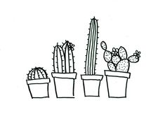 Quirky cactus hand embroidery pattern PDF download by MessySlessor