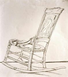 Rocking chair drawing Vintage Dianas Spiritual Enlightenment Worrying Worrying Is Like Rocking Chair It Gives You Pinterest Rocking Chair Sketch Google Search Interior Sketch In 2019