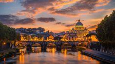 Rome by StefanPrech.deviantart.com #Rome #sunset