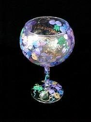 Bellissimo G-9096-STEM Hand Painted Wines & Vines Design 12.5 oz. Goblet by ASuperShop Home. $25.21. Hand Painted - Goblet - 12.5 oz - 6 inches tall This is the design that started it all! The Wines & Vines Design launched the Bellissimo! Company back in 1997 and is still one of our most popular designs. You will find the names of favorite wines scripted in bronze amid elaborate clusters of grapes exquisitely hand painted in seven hues of purple with golden accents.  Swirling ...