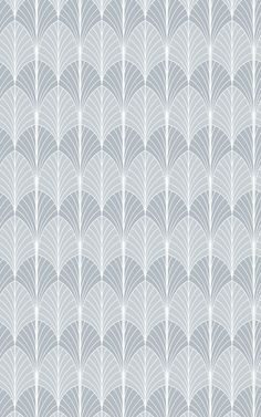 Embrace the wonders of the Art Deco movement with the stylish flair of our Deco Grey repeat pattern wallpaper. This grey Art Deco palm leaf design takes inspiration from the Art Deco stylings of yesteryear and combines them with modern grey tones to create the ultimate trendy wallpaper. The palm leaf lends itself perfectly to the Art Deco movement due to the ability to incorporate fan and sunburst stylings into the patterning. Palm Leaf Wallpaper, Grey Wallpaper, Pattern Wallpaper, Art Deco Movement, Grey Art, Pretty Wallpapers, Art Deco Design, Repeating Patterns, Leaf Design