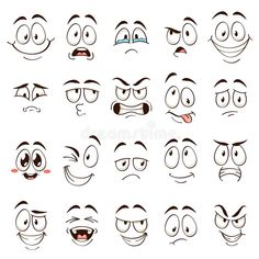 Cartoon Faces Expressions, Funny Cartoon Faces, Cartoon Mouths, Cartoon Expression, Drawing Cartoon Faces, Cartoon Eyes, Drawing Expressions, Cartoon People, Doodle Characters