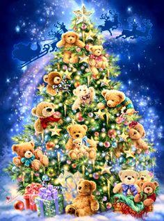 【DMC十字绣套件】HAE-Mini Teddy Bear Tree 迷你泰迪熊树 风景-淘宝网全球站