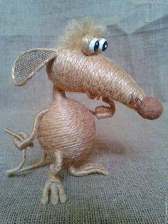 Купить Мыши.... Просто мыши... - серый, джутовый шпагат, мышь, интерьерная игрушка, подарок