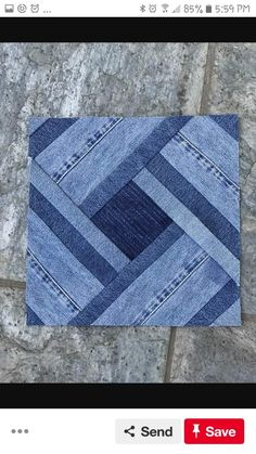 Artisanats Denim, Denim And Lace, Jean Crafts, Denim Crafts, Crochet Cushions, Crochet Quilt, Bag Patterns To Sew, Quilt Patterns, Blue Jean Quilts