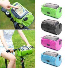 Waterproof 3 in 1 Bicycle Front Tube Bag Touch Screen Cycling Handlebar Bag MTB Bike Frame Pannier Bike Phone Holdres Bags #Affiliate