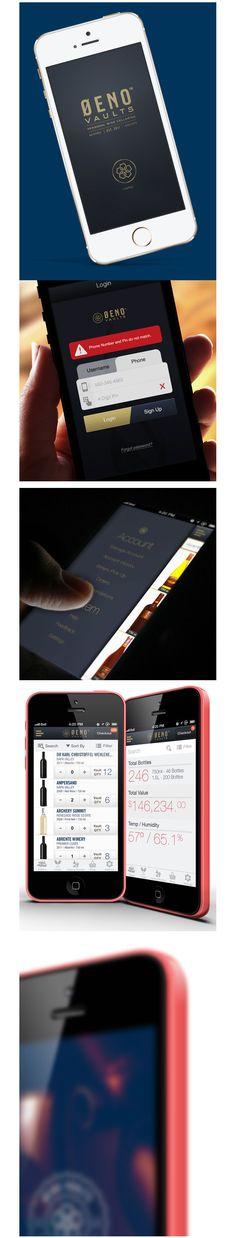Oeno Vaults App    #appdesign #interface #design