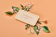 Modern Botanic Illustration & Branding for Nu Ritual. Inspired by antique apothecary label jars and modern botanic illustration, Menta Studio created the identity and packaging for Nu Ritual, a new range of soaps and skincare essentials. Made from pure natural ingredients, the brand celebrates the artisan method of soap making, through unique luxe details across the stationery set. Nu Ritual will launch in Spring 2018. | HeyDesign.com