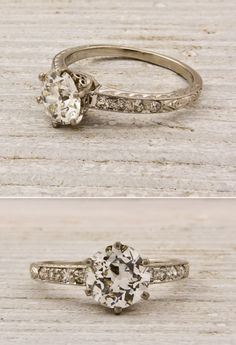 Weddings - Party & Wedding Inspiration - Vintage engagement rings from Erstwhile Jewelers