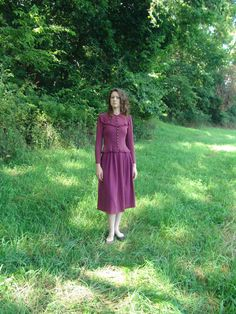 XS 40s purple Perry Brown Vintage Suit by SerendipityCircus