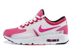 premium selection 5064b e6a49 Nike Air Max Zero Chaussures Rose Blanche Coleur Pas Chere Pour Femme Enfant  - 1610190331