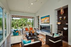 Relaxing Living Room Designs with Garden Ambiance