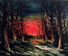 Sunset in the Forest of Senoches - Maurice de Vlaminck