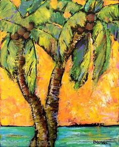 Mimosa Sky Palm Tropics Art Print by blendastudio on Etsy