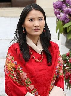 Queen Jetsum Pema of Bhutan at the reception of the Duke and Duchess of Cambridge - 14.04.16