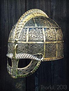 The Valsgärde 8 helmet replica (Vendel period)