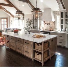 "280 Likes, 9 Comments - Carla (@ourhouseofthree) on Instagram: ""Did you happen to watch Fixer Upper Tuesday? This amazing kitchen was featured on this week's…"""