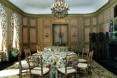 Casa Alva | the dining room at the Palm Beach area residence of Consuelo Vanderbilt Balsan and her husband Col. L J Balsan