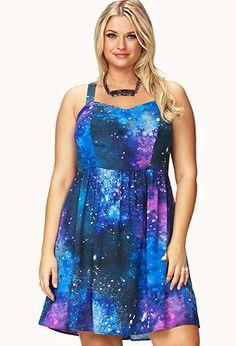 Celestial Skater Dress | FOREVER21 PLUS - 2059334939
