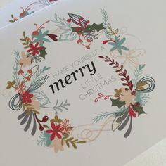 Christmas Card Printable by Keera Job Design www.livelovesew.com.au