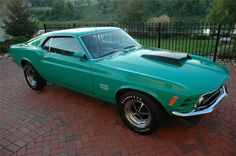 "Interesting paint.  ""1969 BOSS 429 Mustang.  One of 500 BOSS 429s built in 1970."""