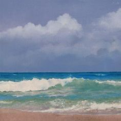"""Ocean, Sky and Shore"" - Original Fine Art for Sale - © Oriana Kacicek"
