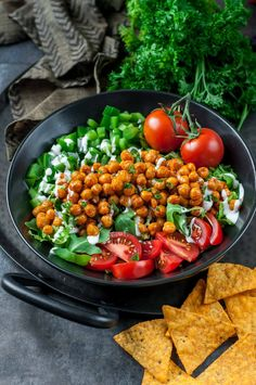 This Buffalo Chickpea Salad is super easy to make, loaded with nutrients, and delivers a much needed high-five to the tastebuds. Try it today!