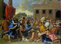 The Rape of the Sabine Women,1634  Nicolas Poussin