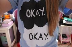 the fault in our stars tee. ♡~ I can't tell you how much I want this shirt...
