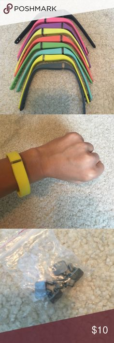 Fit Bit Bands Only 2 of the colors ever used, comes with attachable equipment. Package deal Fit Bit Jewelry Bracelets