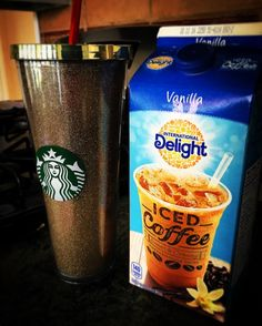 Sometimes you just need to improvise because there's no Starbucks near you. #FirstWorldProblems #TheStruggleIsReal #Starbucks #InternationalDelight #coffee #icedcoffee