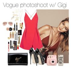"""vogue.set"" by hsmklau ❤ liked on Polyvore featuring Topshop, Giuseppe Zanotti, Yves Saint Laurent, House of Harlow 1960, LULUS, Lana, Bee Goddess, Fujifilm and Ray-Ban"
