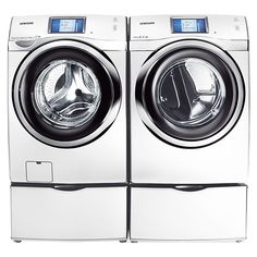Washer | 4.5 cu. ft. Touch Screen LCD Front-Load Washer WF457ARGSWR (White) - Samsung Home Appliances