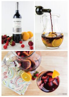 This Skinny Sangria recipe is only 104 calories per serving. Cheers!