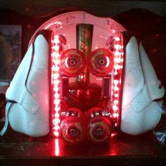 My Sweet Vanilla Sundea All Lit with Leds! Light up Roller Skates! Roller Skating Pictures, Light Up Roller Skates, Skate Gif, Birthday Candles, Vanilla, Sweet, Candy