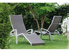 Stern Sonnenliege Balance Aluminium weiß Textil taupe kaufen im borono Online Shop