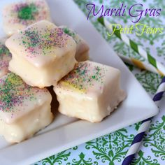 Baking In Heels: Mardi Gras Petit Fours