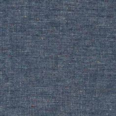 Robert Kaufman Chambray Union - Speckled Indigo, soft drape, 99% cotton 1% polyester. 142cm wide. 3.77oz per sq yd, £15/m