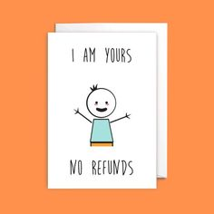 Funny No Refunds Anniversary Card - anniversary gift, wife anniversary card, husband anniversary car Diy Anniversary Gifts For Him, Anniversary Cards For Husband, Birthday Gifts For Boyfriend Diy, Cute Boyfriend Gifts, Funny Anniversary Cards, Cards For Boyfriend, Cricut Anniversary Card, Homemade Anniversary Cards, Valentines Card For Husband